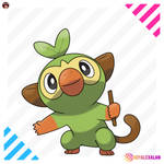 GROOKEY GRASS STARTER POKEMON SWORD SHIELD