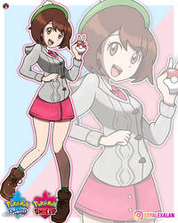 POKEMON SWORD AND SHIELD - FEMALE TRAINER by Alexalan