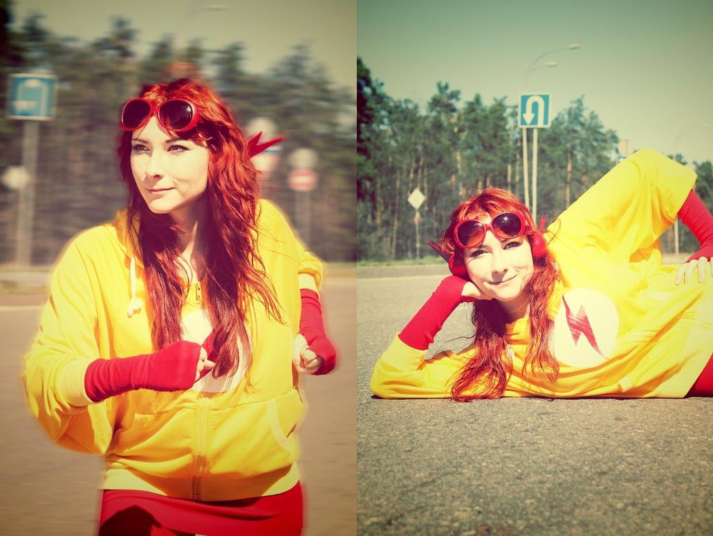 Kid Flash (Female) by Minako-mi