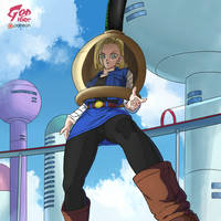 Future Android 18 gets absorbed by godvore