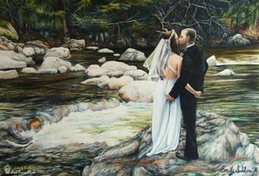 No Way Out, Sodders (Self) Wedding Portrait by emilysodders