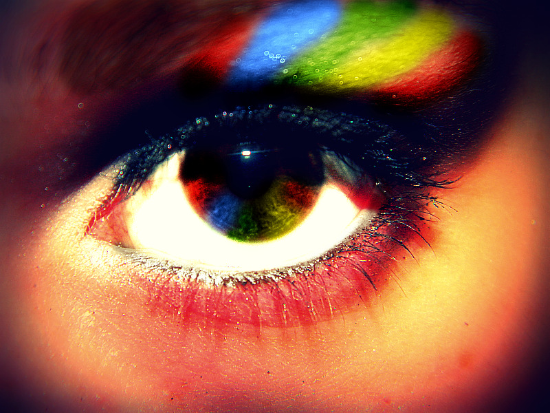 Rainbow eye by ceeceebaby