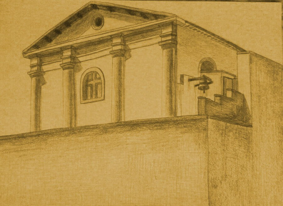 Drawing - Catholic Church by eduaarti