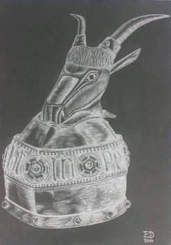 Drawing - Helmet Of Skanderbeg 04