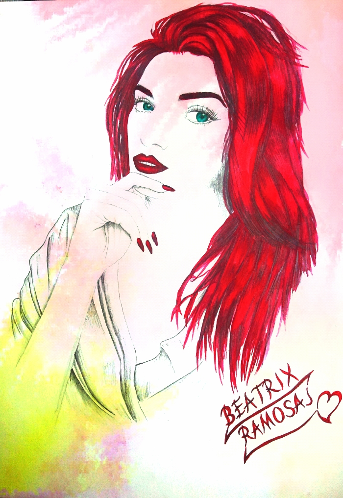 Drawing Watercolor - Beatrix Ramosaj_46 by eduaarti
