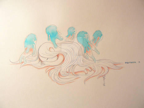 Jellyfish spirit - Inktober 2014 - Day 13