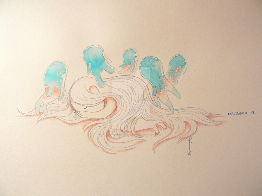 Jellyfish spirit - Inktober 2014 - Day 13 by LaurierTheFox