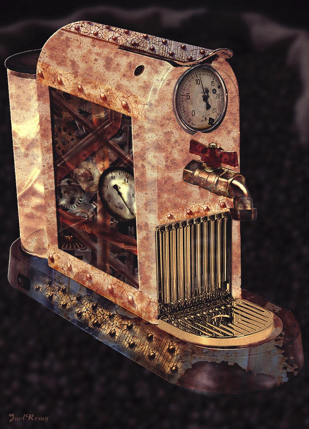 Steampunk Coffee Machine By J222r On Deviantart