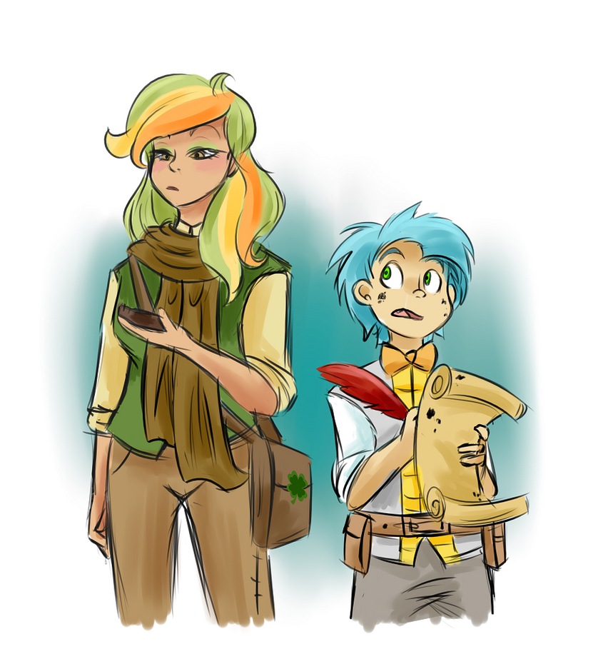 Human Jot and Shamrock by Dream-Of-Serenity
