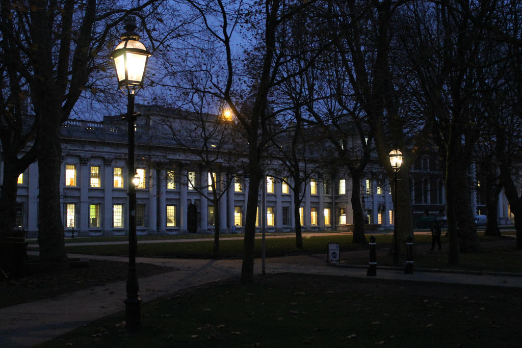 College at night