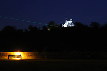Royal Observatory at night