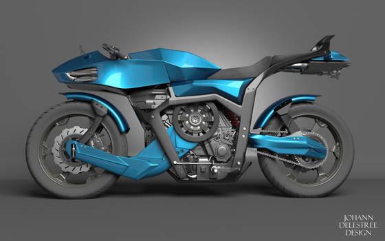 Futuristic Motorcycle by JohannDelestree