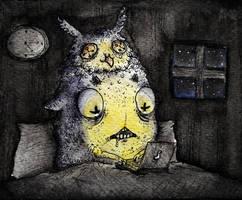 Drawtober 03. Night Owl