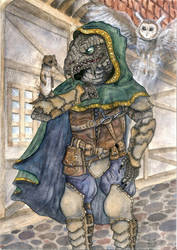 Commission: Dragonborn Rogue by Rednon