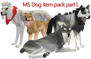 MS dog item pack part I. by Feralsaurus
