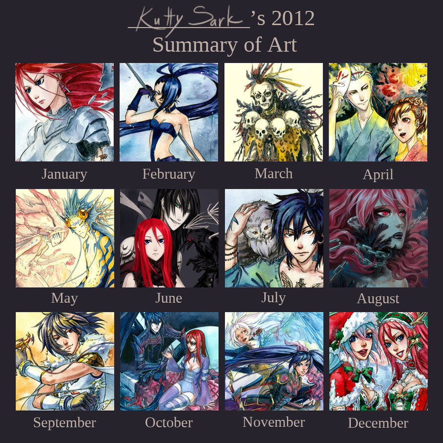 2012 Art Summary by Kutty-Sark