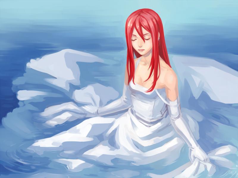 White Dress by Kutty-Sark