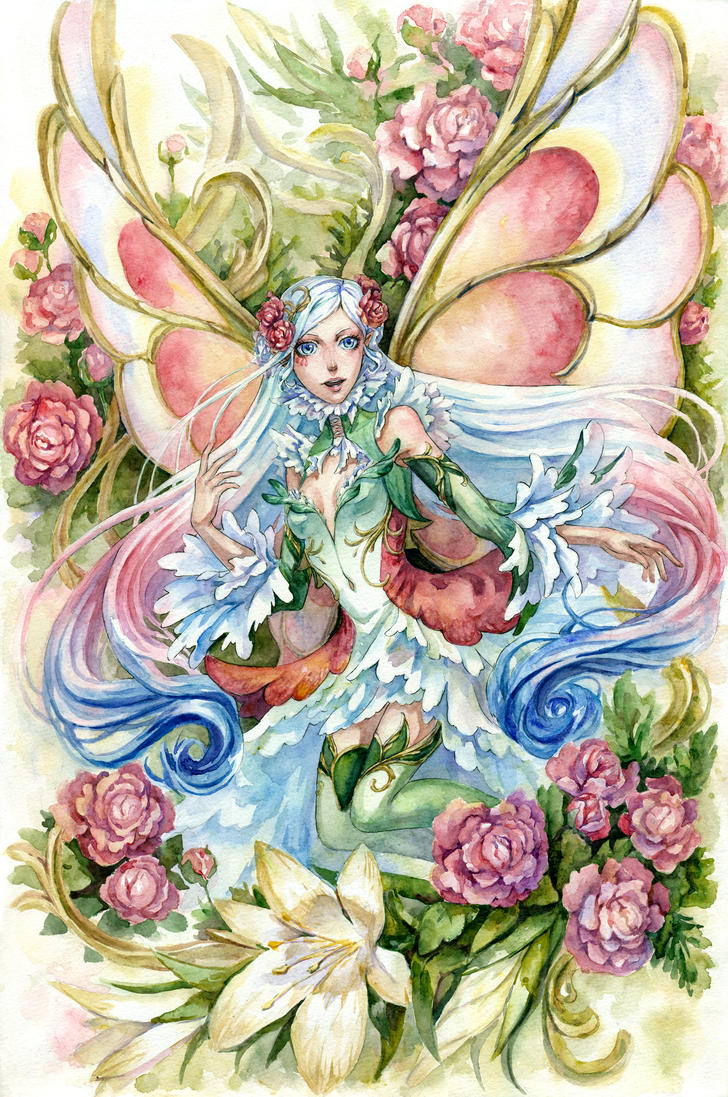 Flower Fairy by Kutty-Sark