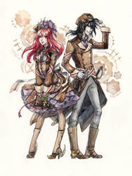 Steampunk Alvis and Ran by Kutty-Sark