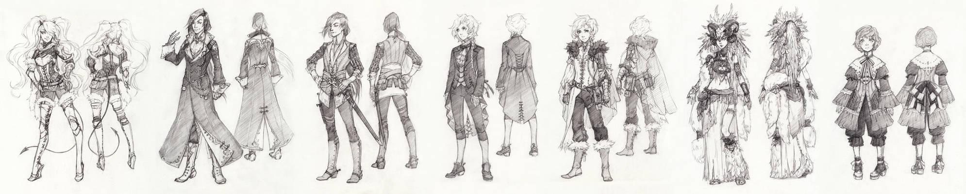 Costume designs for KitJoYuki