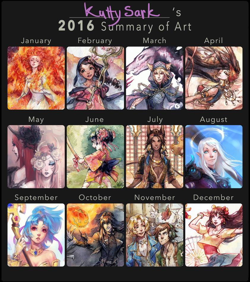 2016 Summary of Art by Kutty-Sark