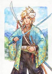 Link (Kimetsu no Yaiba crossover) by Kutty-Sark