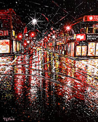 Red City Rain by FLOOKO