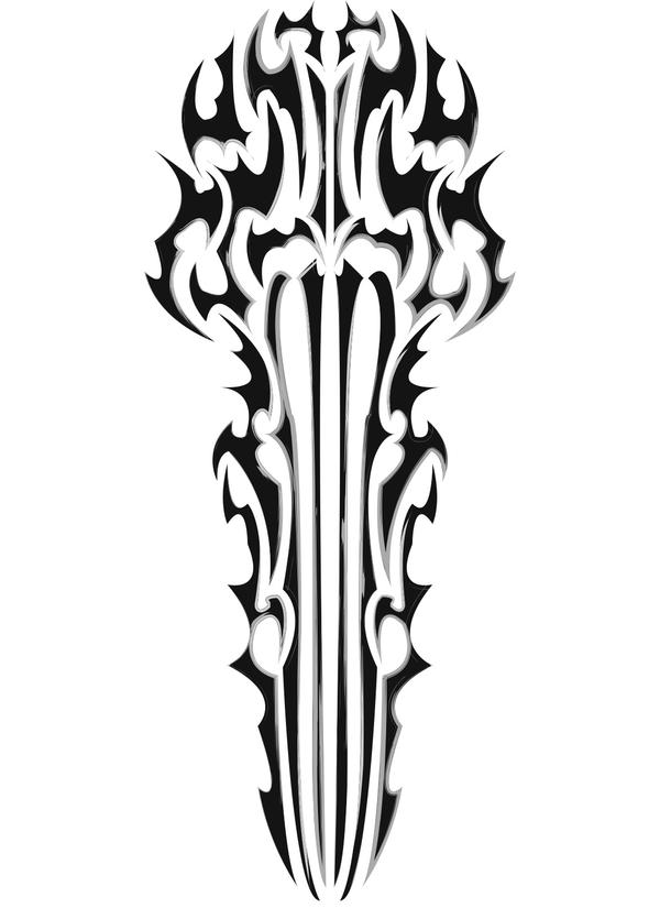 tribal sword by argent88 on deviantart rh argent88 deviantart com tribal sword and shield tattoo Sword of the Spirit Tattoo