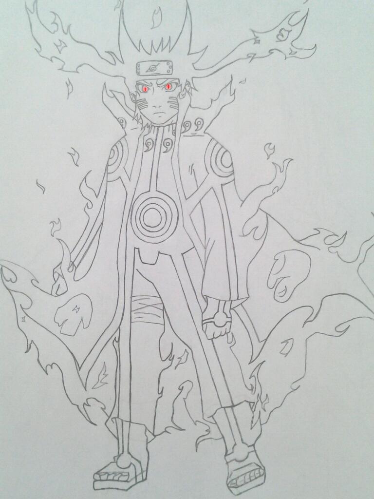 How to draw bijuu naruto