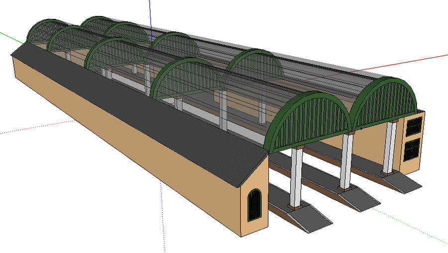 Tidmouth Station (Sketchup Version) by TheAusterityEngine