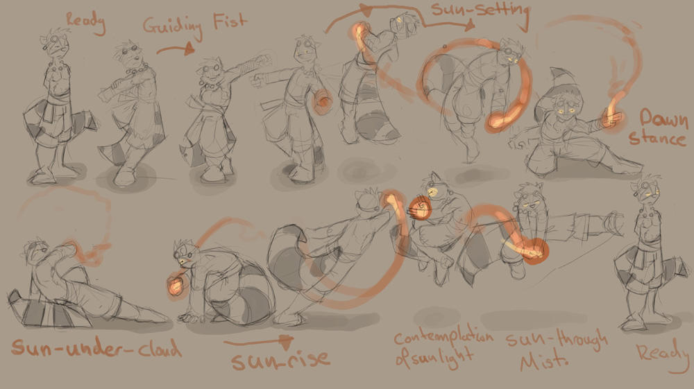battle poses by SeanMcNally