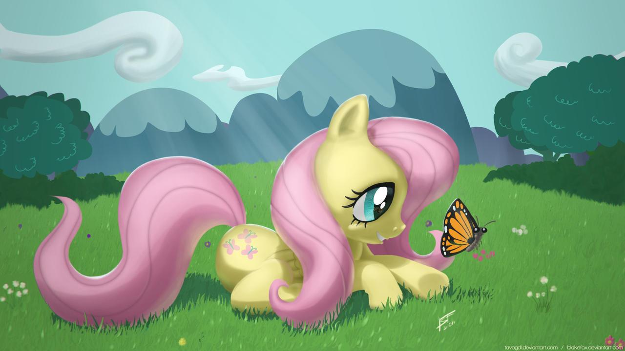 Fluttershy's yard by TavoGDL