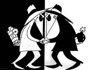 Spy vs. Spy Drawing