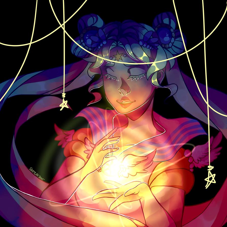 Sailor Cosmos (aka: my queen) + Speedpaint by licoriceskittles