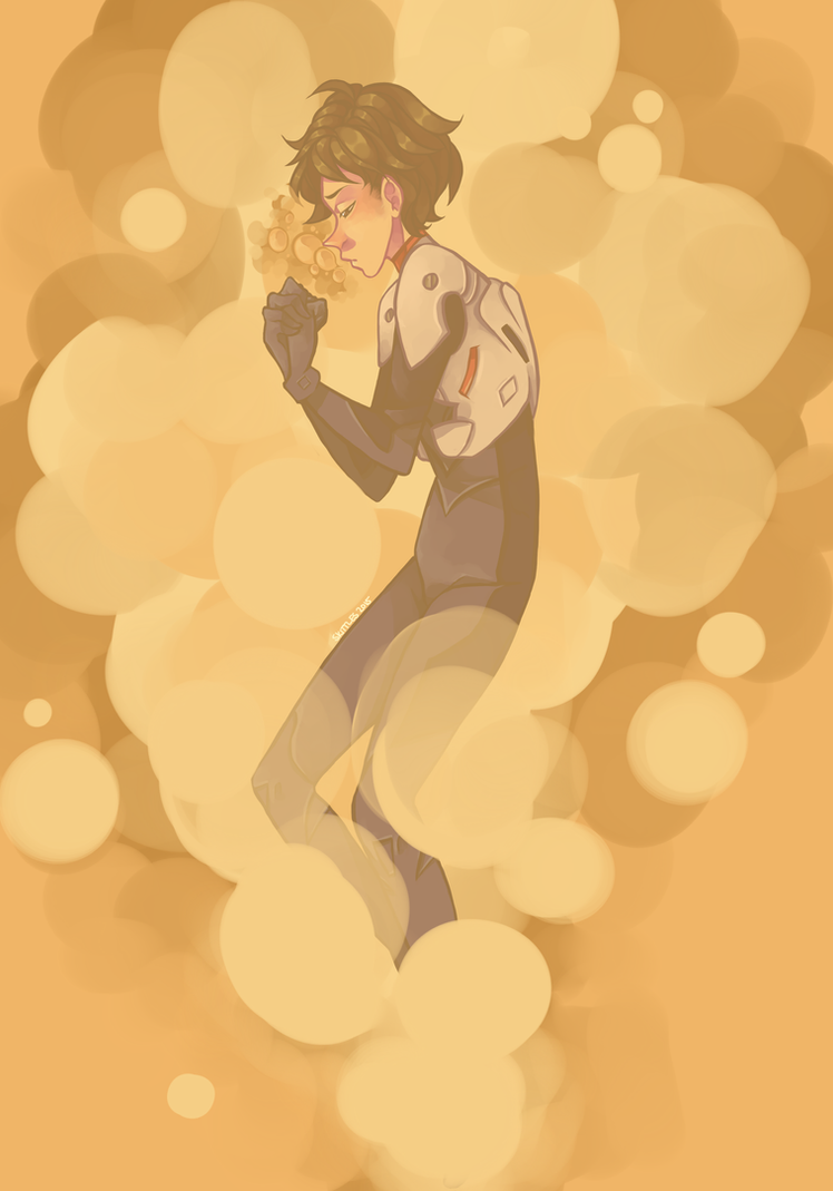 Shinji Ikari: Robo Nerd Extrordinaire by licoriceskittles
