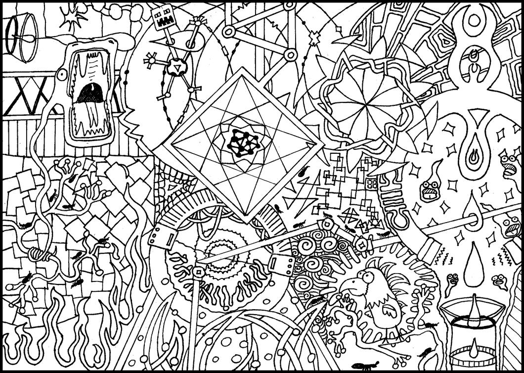 Colouring page 2 by 2punk4everything on deviantart for Trippy coloring pages for adults