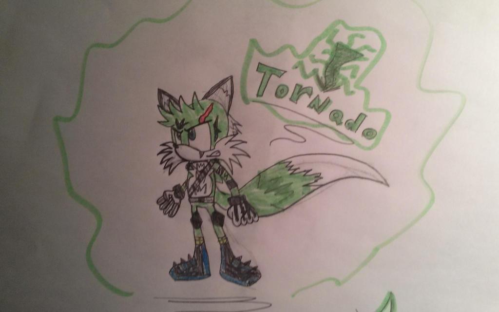 Tornado the green fox by Casirethedragon11