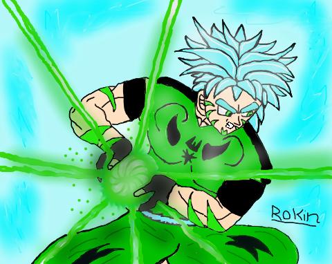 SSJGSS Rokin or As him as a hyper Saiyan XD by Casirethedragon11