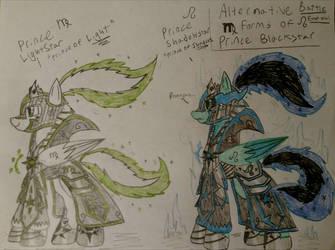 Blackstars Leo and Virgo Forms by Casirethedragon11