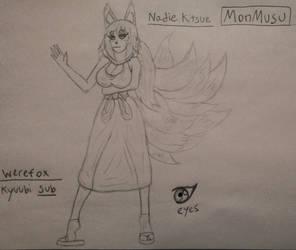 Kadie the Kyuubi Kitsune by Casirethedragon11