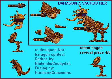 Not Baragon Redesign fusion Repaired. by BlueLionX88v2