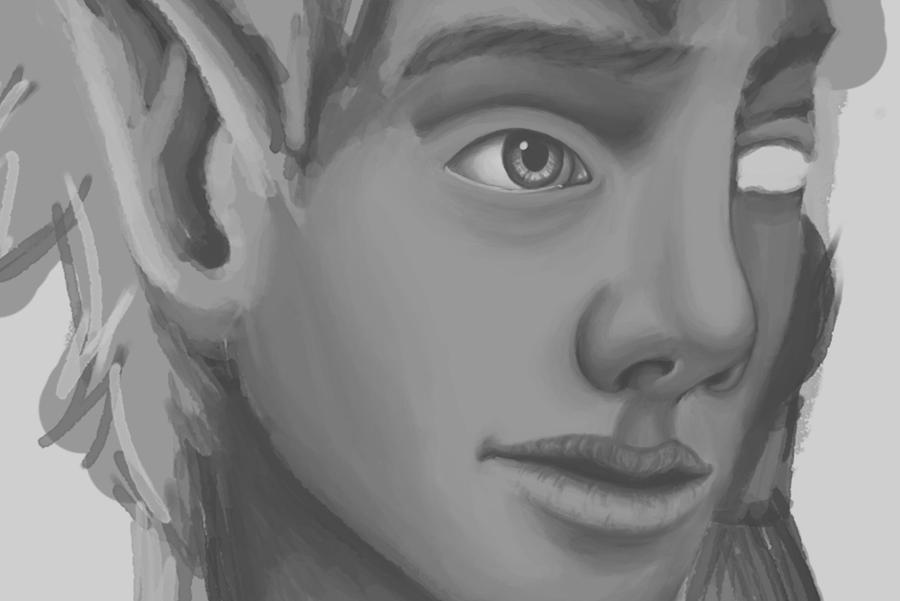 Digital Portrait WIP (Daily Sketch 49/365) by SvbwayShayla