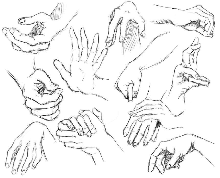 hand study III (daily sketch 95/365) by SvbwayShayla