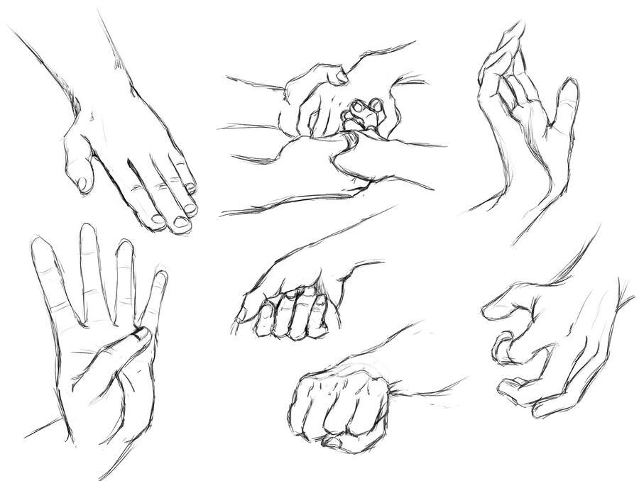 hand study IV (daily sketch 96/365) by SvbwayShayla