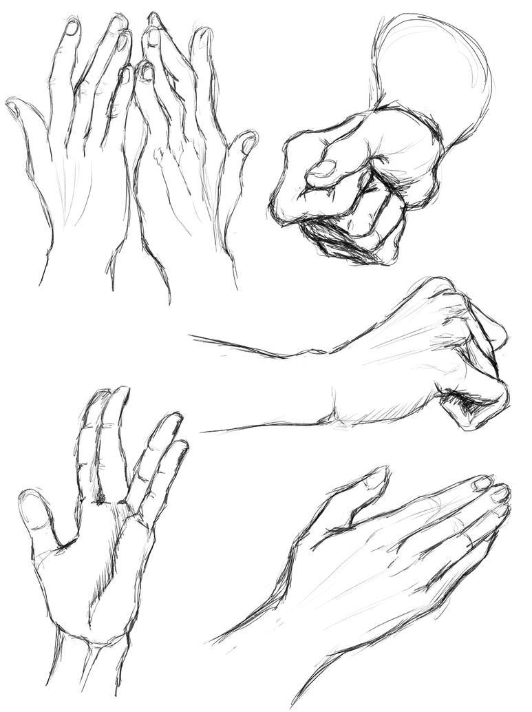 hand study V (daily sketch 97/365) by SvbwayShayla
