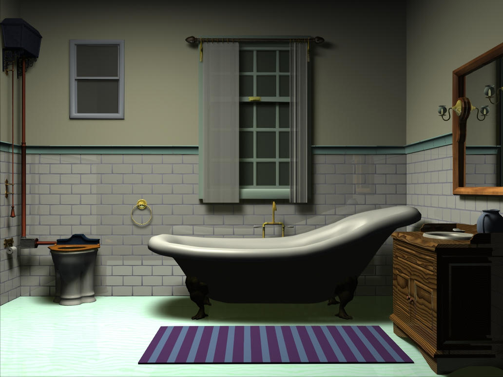 Victorian bathroom by voltarrens on deviantart for Edwardian bathroom designs