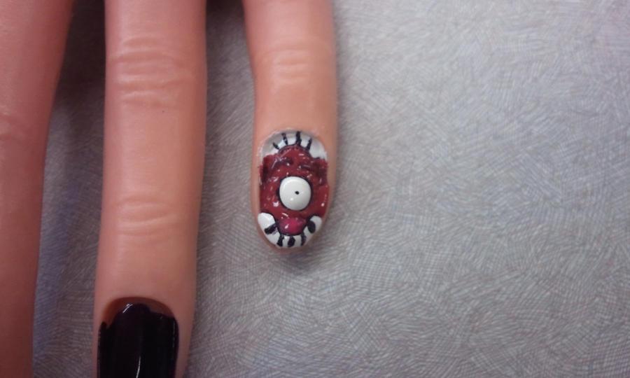 Eye Inside A Mouth Nail Art O Long Title By Eli1323 On Deviantart