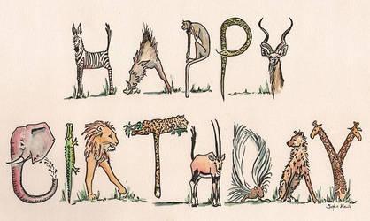 Happy Birthday animals