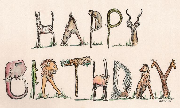 Happy birthday animals by sophieneville on deviantart happy birthday animals by sophieneville bookmarktalkfo Choice Image