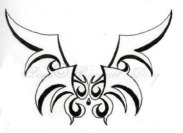 Angel Wings Logo-Tattoo by rouko